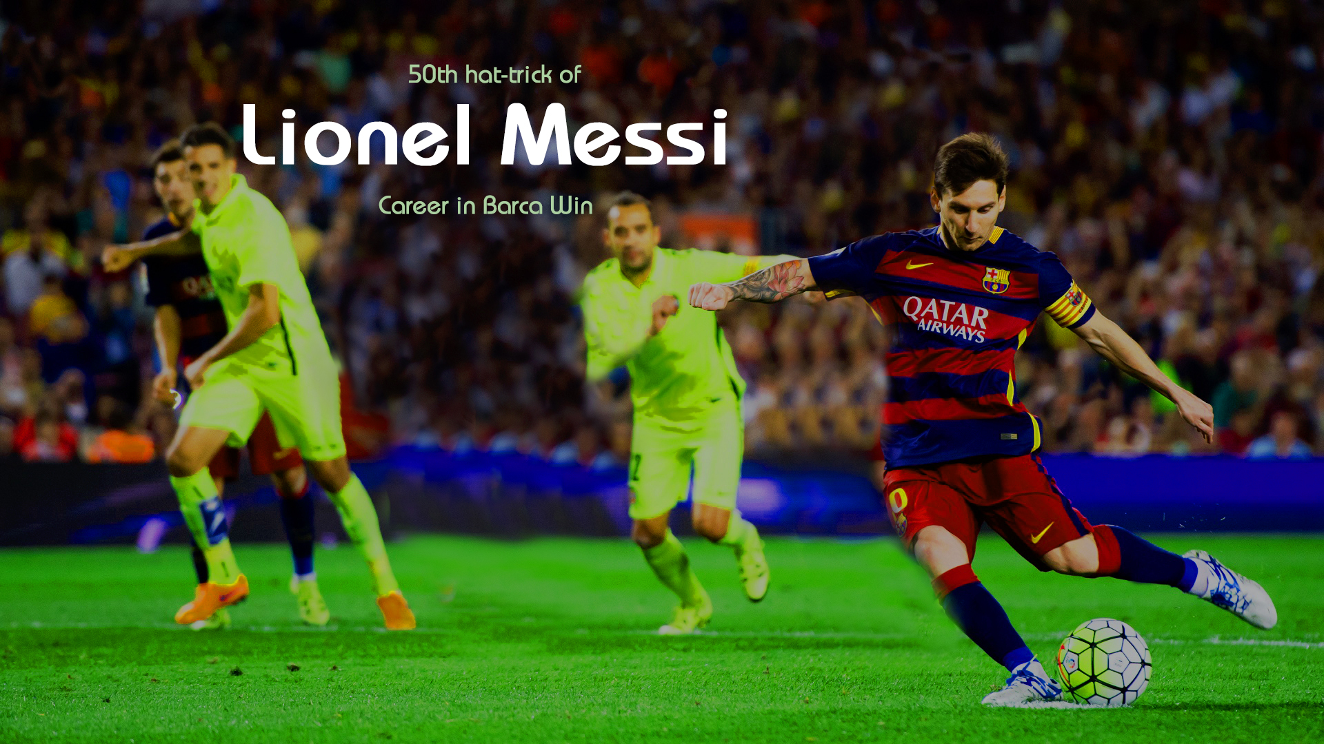 50th hat-trick of Lionel Messi Career in Barca Win