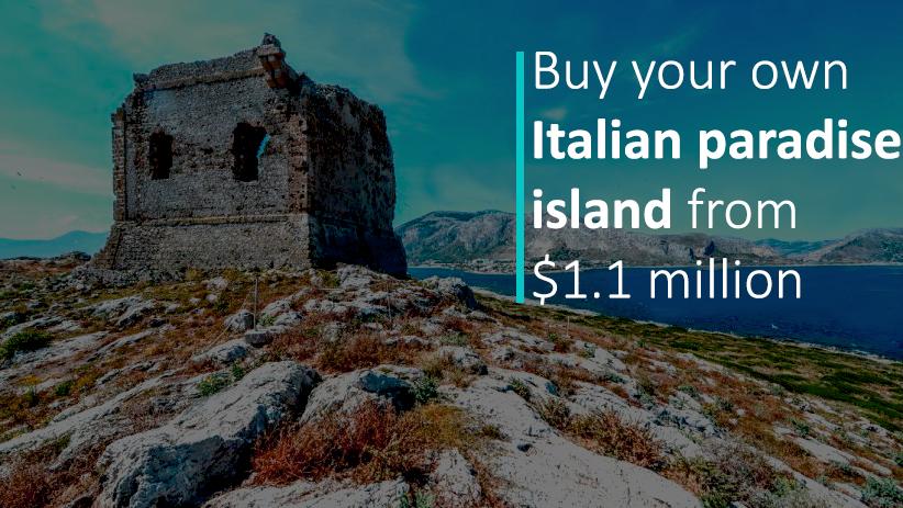 Italian Paradise Island for Sale from 1.1 Million Dollar