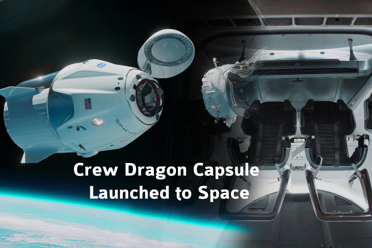 Crew Dragon Capsule Launched to Space Station from SpaceX for NASA Astronauts Test