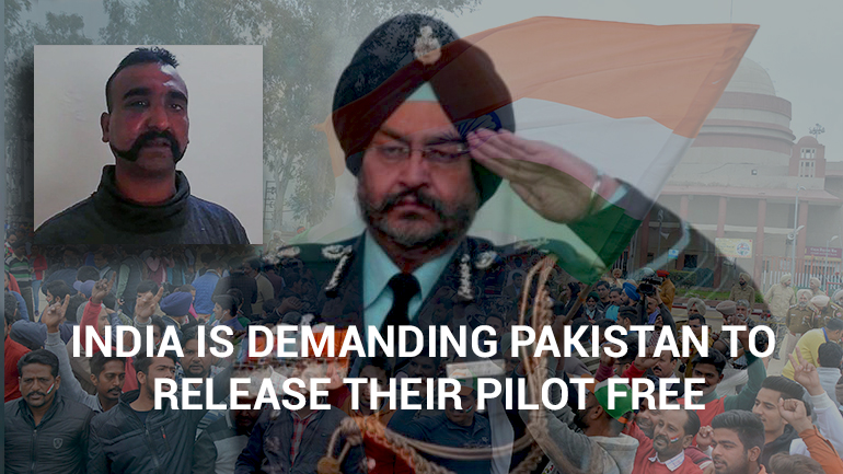 India is Demanding Pakistan to Release their Pilot Free