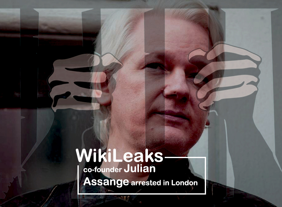 Co-founder of WikiLeaks Detained in London may facing Extradition to the U.S.