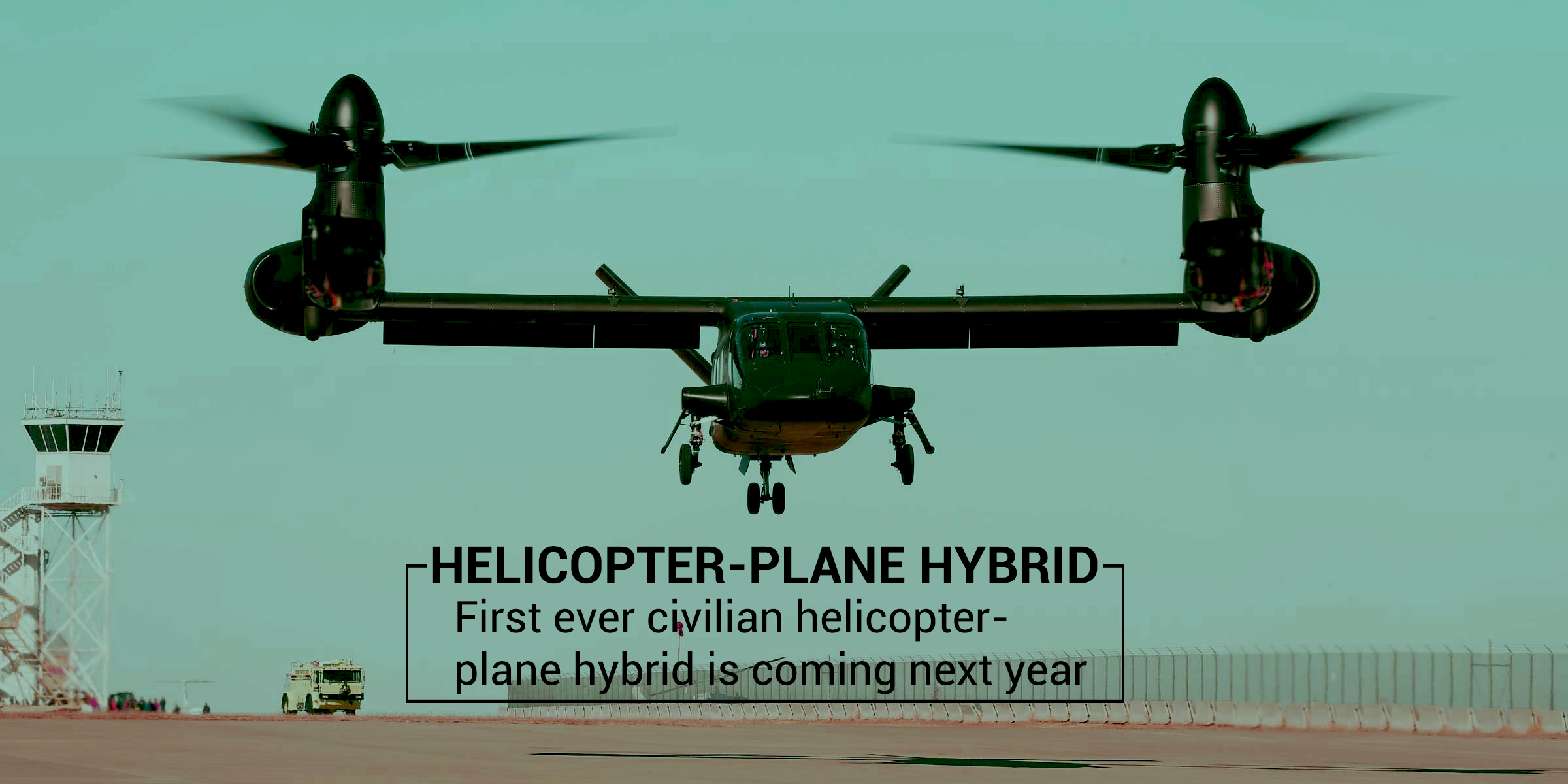 World's First Civilian Tilt-rotor Aircraft coming in 2020