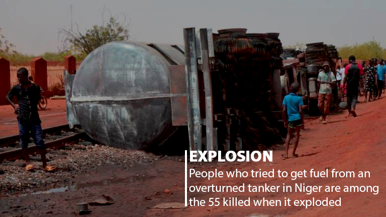 55 People Killed in Niger Trying to Take Fuel from overturned Tanker when it exploded