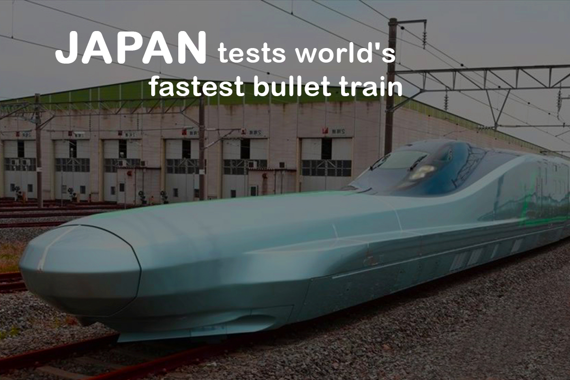 Fastest Bullet Train of the World Tested by Japan