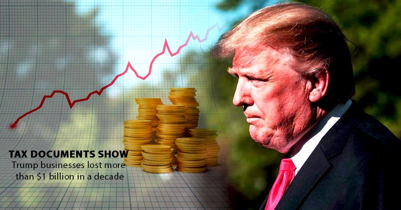 In a Decade Business Loss of Trump Rises above $1 billion