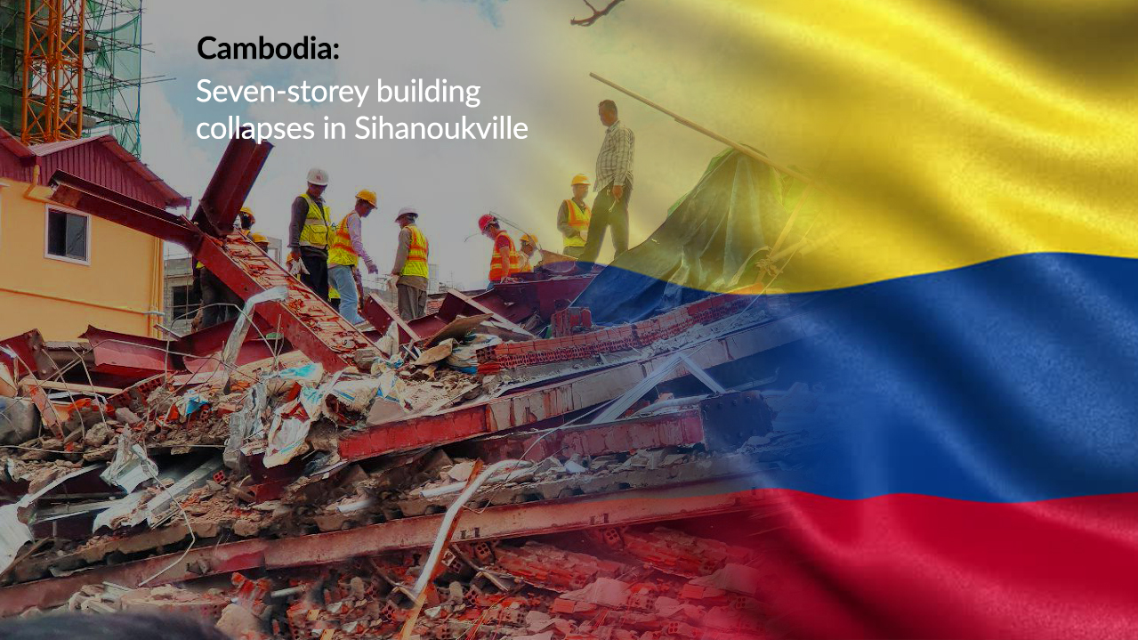 Cambodia's Under-construction Seven-story Building Collapsed