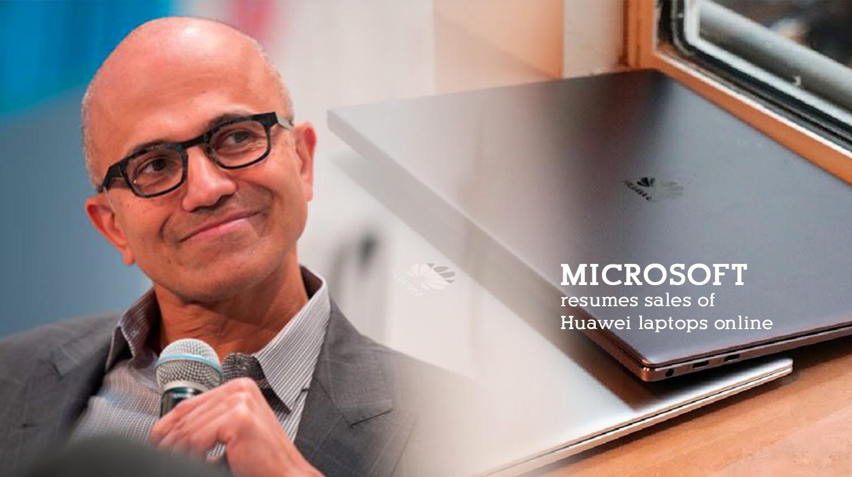 Microsoft Online Store Resumed Huawei Laptop Sales