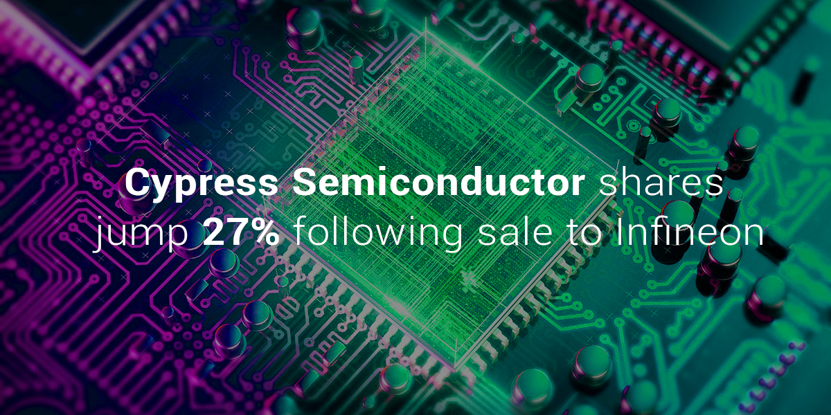 Shares of Cypress Semiconductor Raises 27% after Infineon Sale