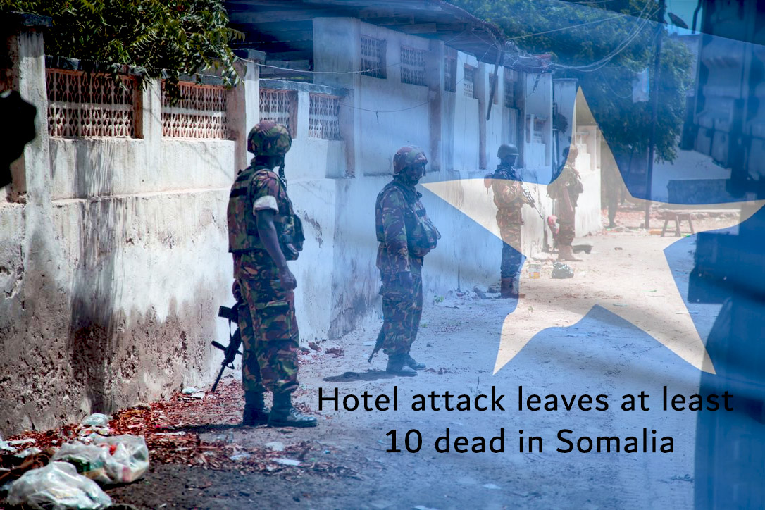 Ten Dead with Dozens Injured in Somalia Hotel Attack