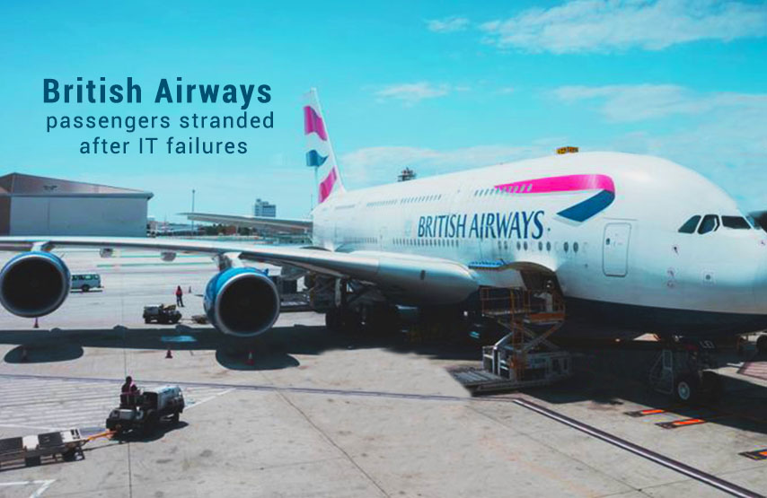 Due to IT failures Passengers of British Airways facing Delays