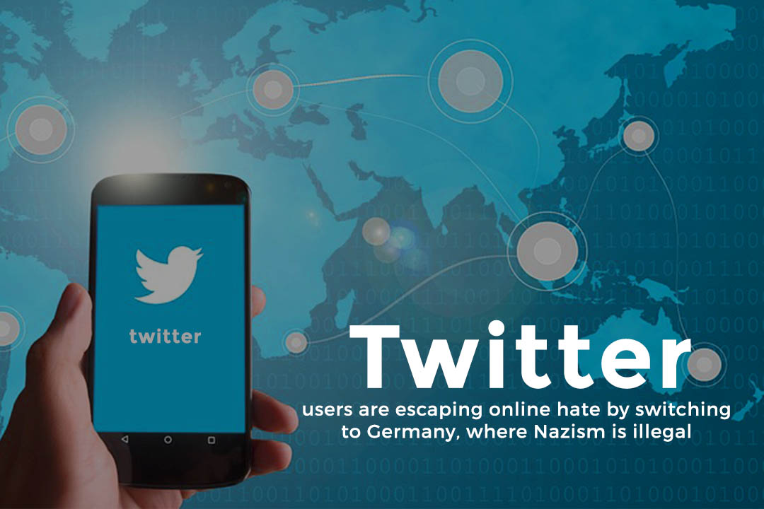 Twitters users switching locations of account to Germany to avoid Online Hate Speech