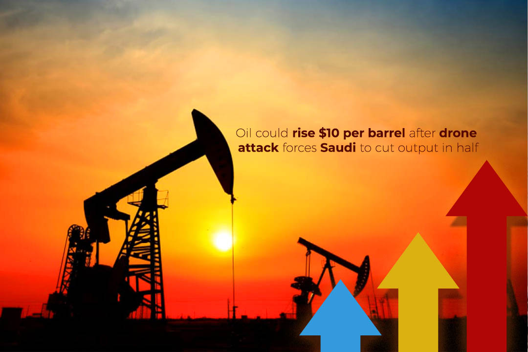 International Oil Prices could rise $10 per barrel after drone Attack