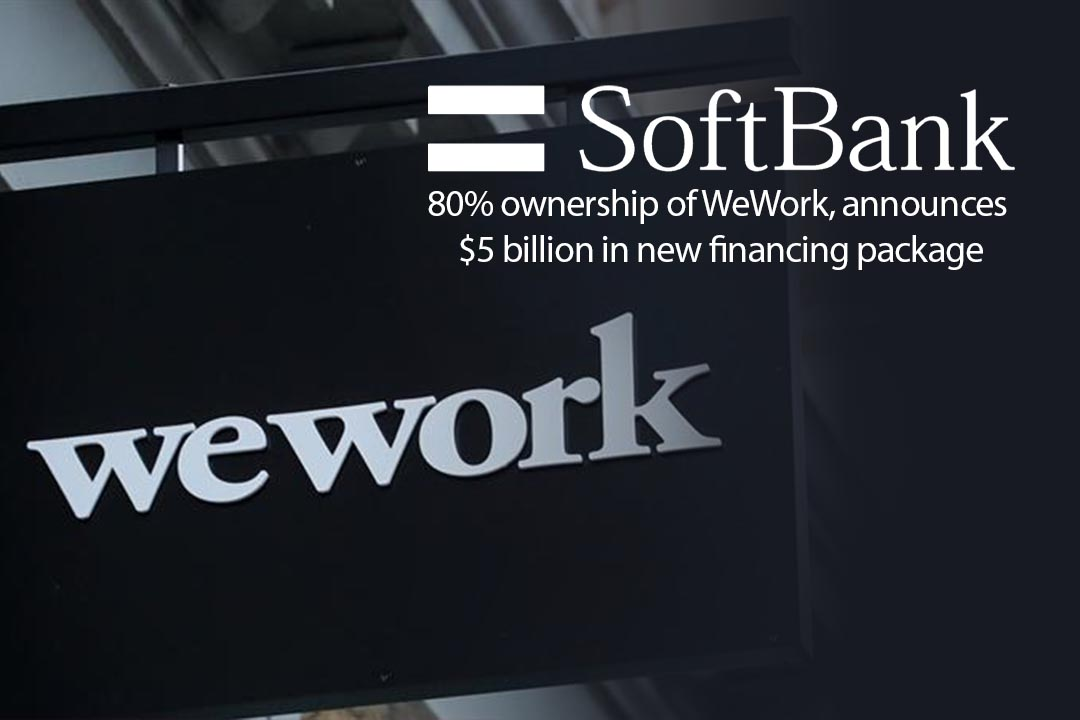 SoftBank made an Agreement to take WeWork's 80% ownership