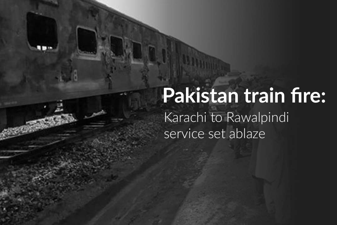 Tezgam Train caught fire killing at least 73 People in Pakistan