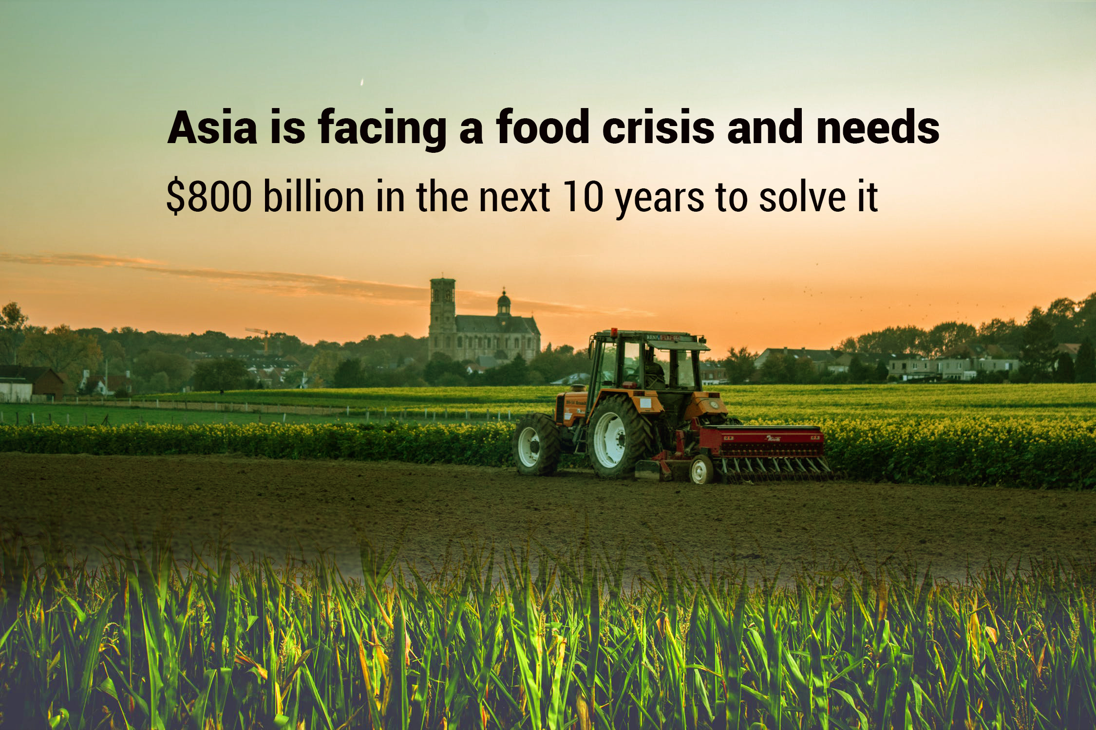 Asia unable to feed itself, needs $800 billion in the upcoming 10 years