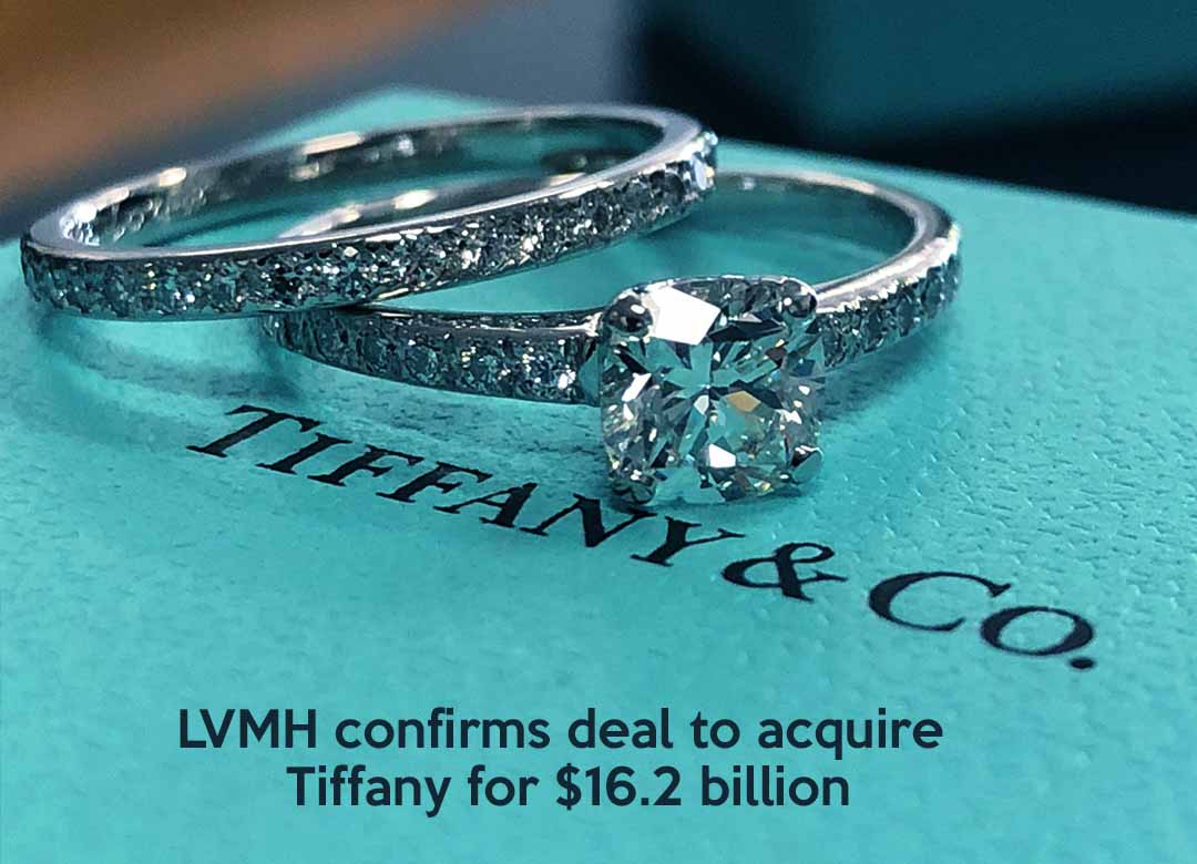 LVMH confirms Pact to purchase Tiffany for $16.2 billion