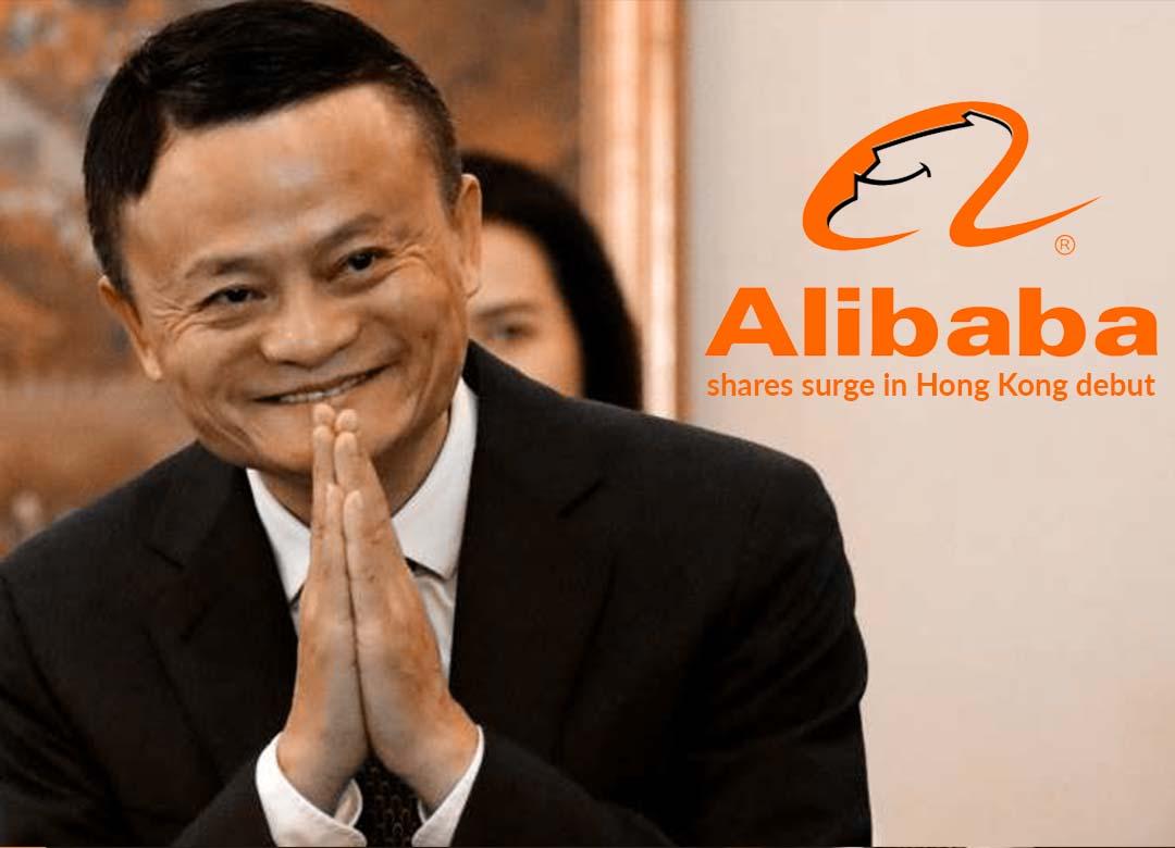 Shares of Alibaba upsurge in Hong Kong Debut, 2019 world's major listing so far