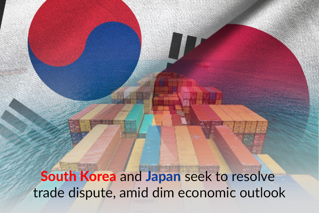 Japan and South Korea made efforts to resolve trade tensions