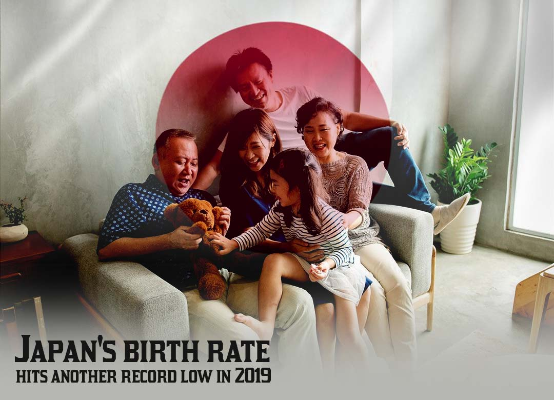 Record Low Birth Rate in Japan in 2019