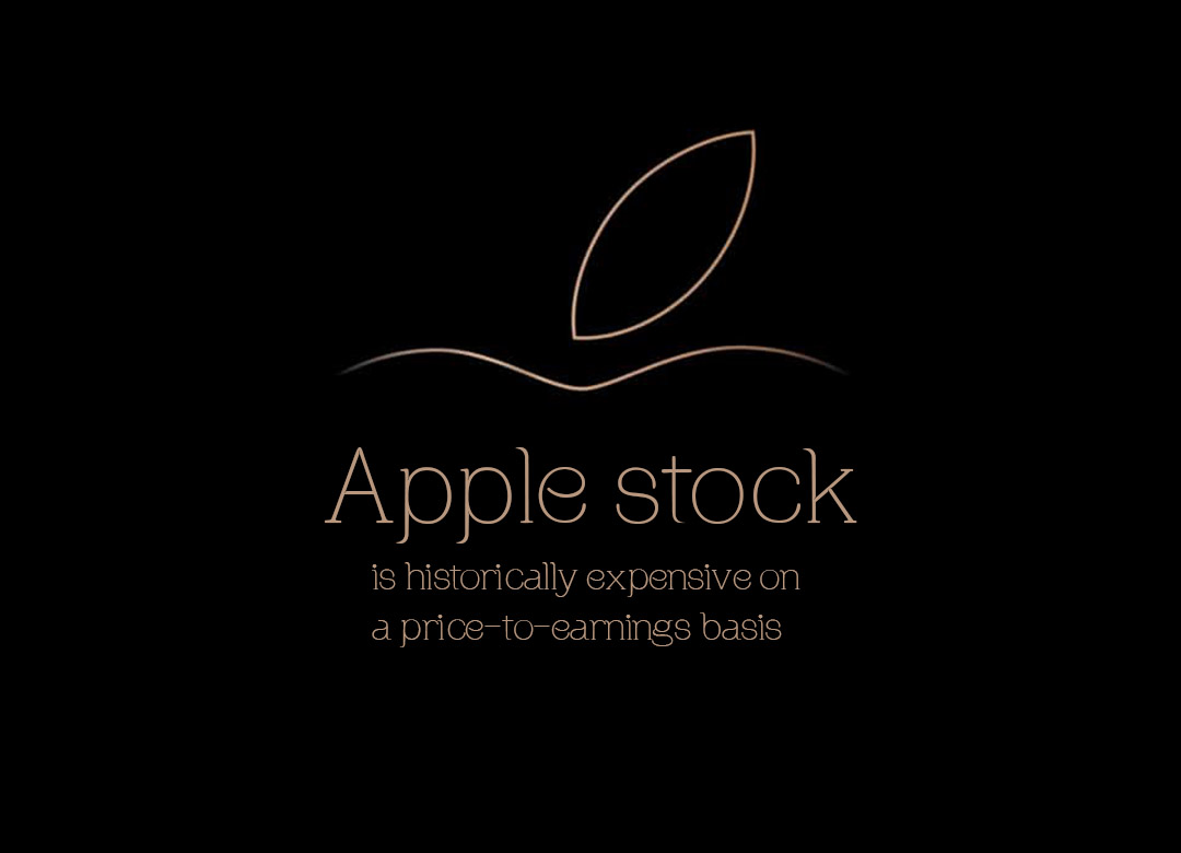 Apple stock is expensive historically after the best year in the decade