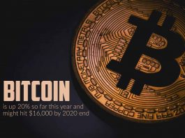 Bitcoin is surge 20% so far this year and might touch $16,000 by 2020 end