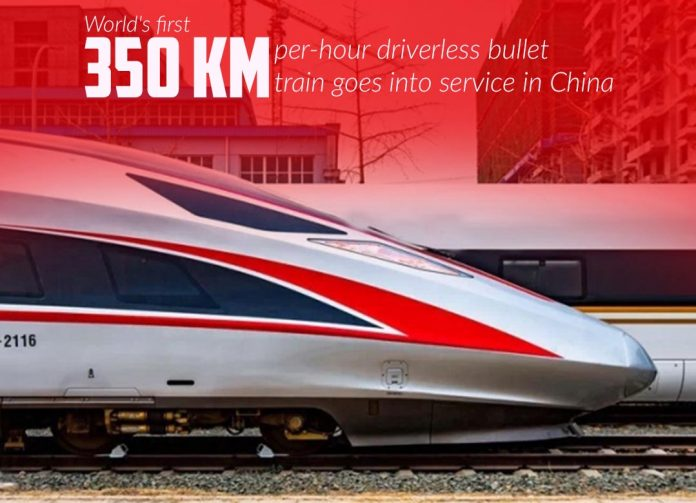 First 350kph Driverless Bullet Train of the world started service in China