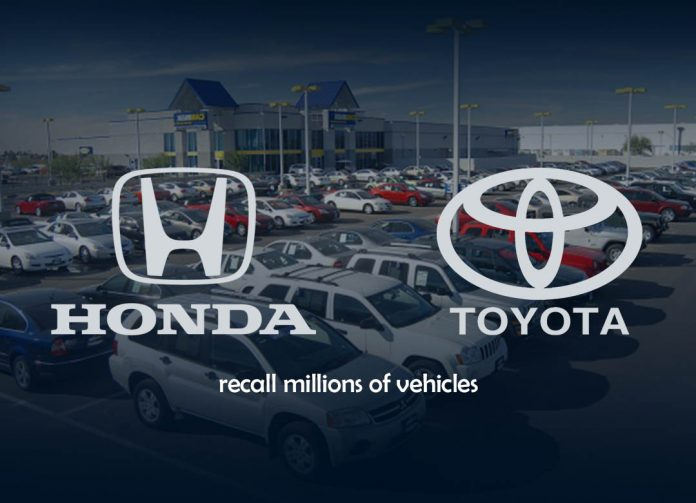Honda and Toyota recall millions of Vehicles majorly in the United States