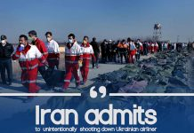 Iran confesses of unintentionally hitting down Ukrainian Airliner