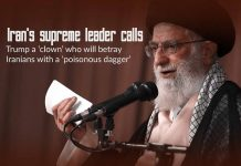 Khamenei calls Trump a 'clown' who will betray Iranians with a dagger