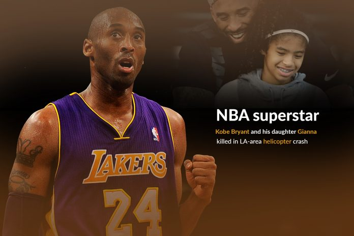 NBA superstar Kobe Bryant killed with his daughter in a Helicopter crash