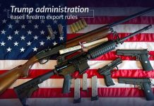 The Trump administration eased the rules for exporting firearms