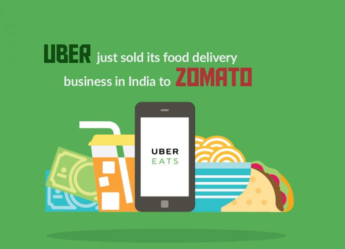 Uber just sold its Uber Eats Business in India to Zomato
