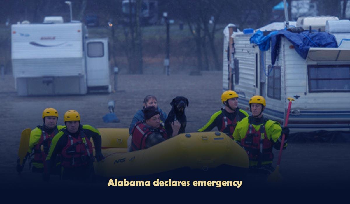 Alabama declares emergency and Flood soaked Mississippi