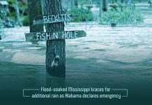 Alabama declares emergency and Flood soaked Mississippi