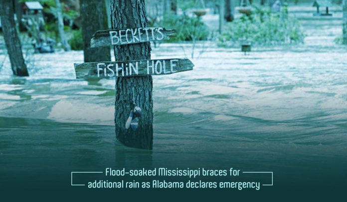 Alabama and Mississippi Announced Emergency after heavy Flood