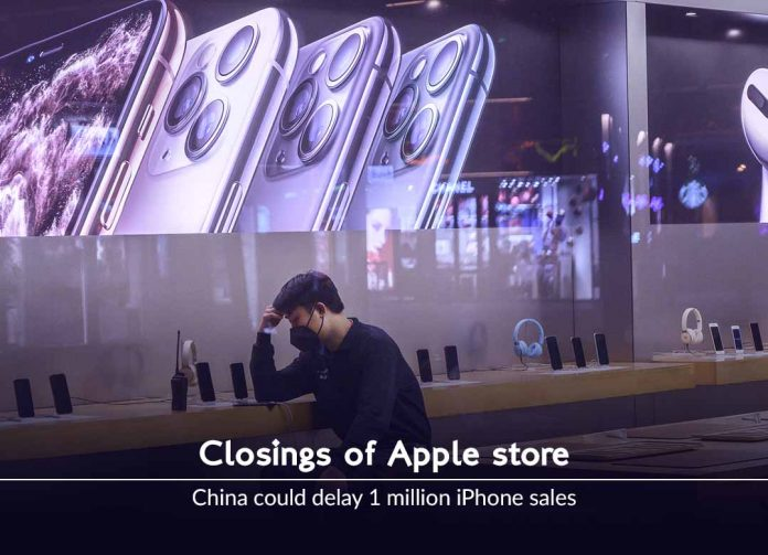 Closings of Apple store in China could delay one million iPhone sales