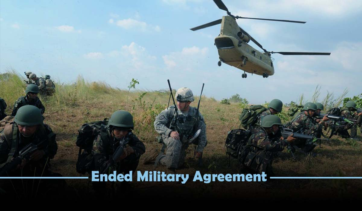 Disappointed after Philippines terminate the military pact with US