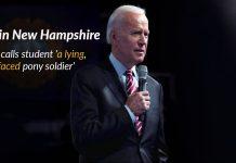 Joe Biden responds student in a disrespectful way