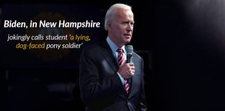 Joe Biden, presidential candidate responded student with humiliating words