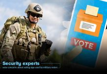 Security experts reported flaws in voting app for military voters