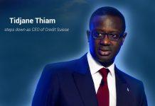 Tidjane Thiam Resign as CEO of Credit Suisse