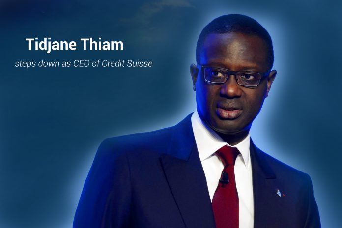 Tidjane Thiam steps down as CEO of Credit Suisse