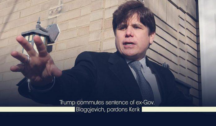 Trump commuted former governor, Blagojevich's sentence, forgives Kirk