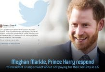 Prince Harry replied to Trump's tweet about the U.S. not Pay for their security
