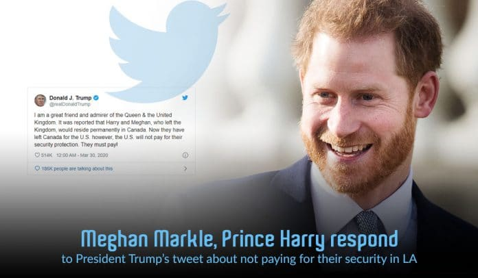 Harry & Meghan responded to Trump's tweet about their security in U.S.