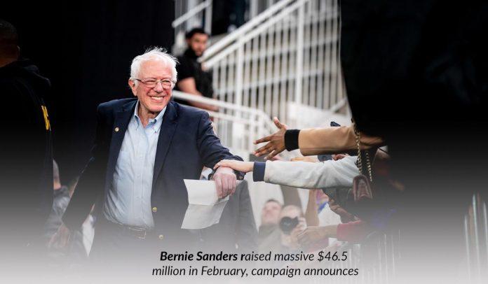 Vermont Senator raised up around $46.5 million in Feb for campaign