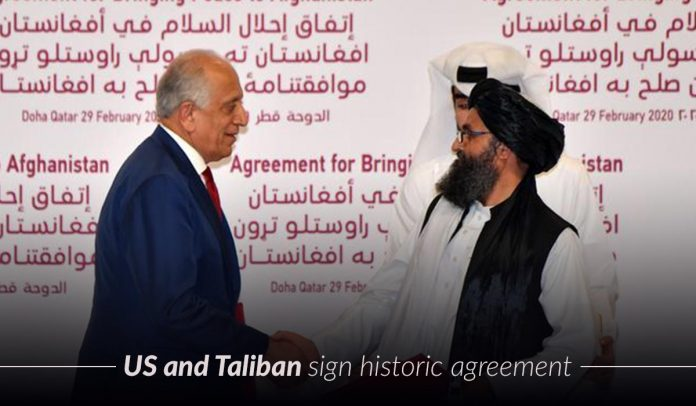 United States Signed a Historic Peace Agreement with Taliban