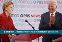 Elizabeth Warren officially Endorses Joe Biden for President