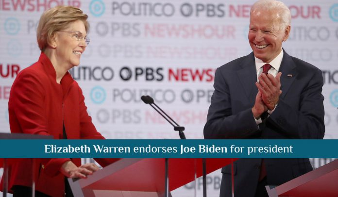 Sen. Elizabeth Warren officially Endorses Joe Biden for President