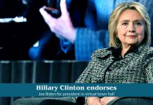 Hillary Clinton endorses Former Vice President Biden